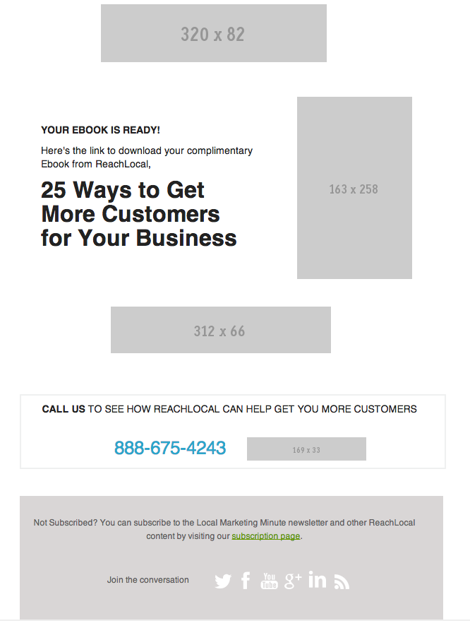 client email layout example